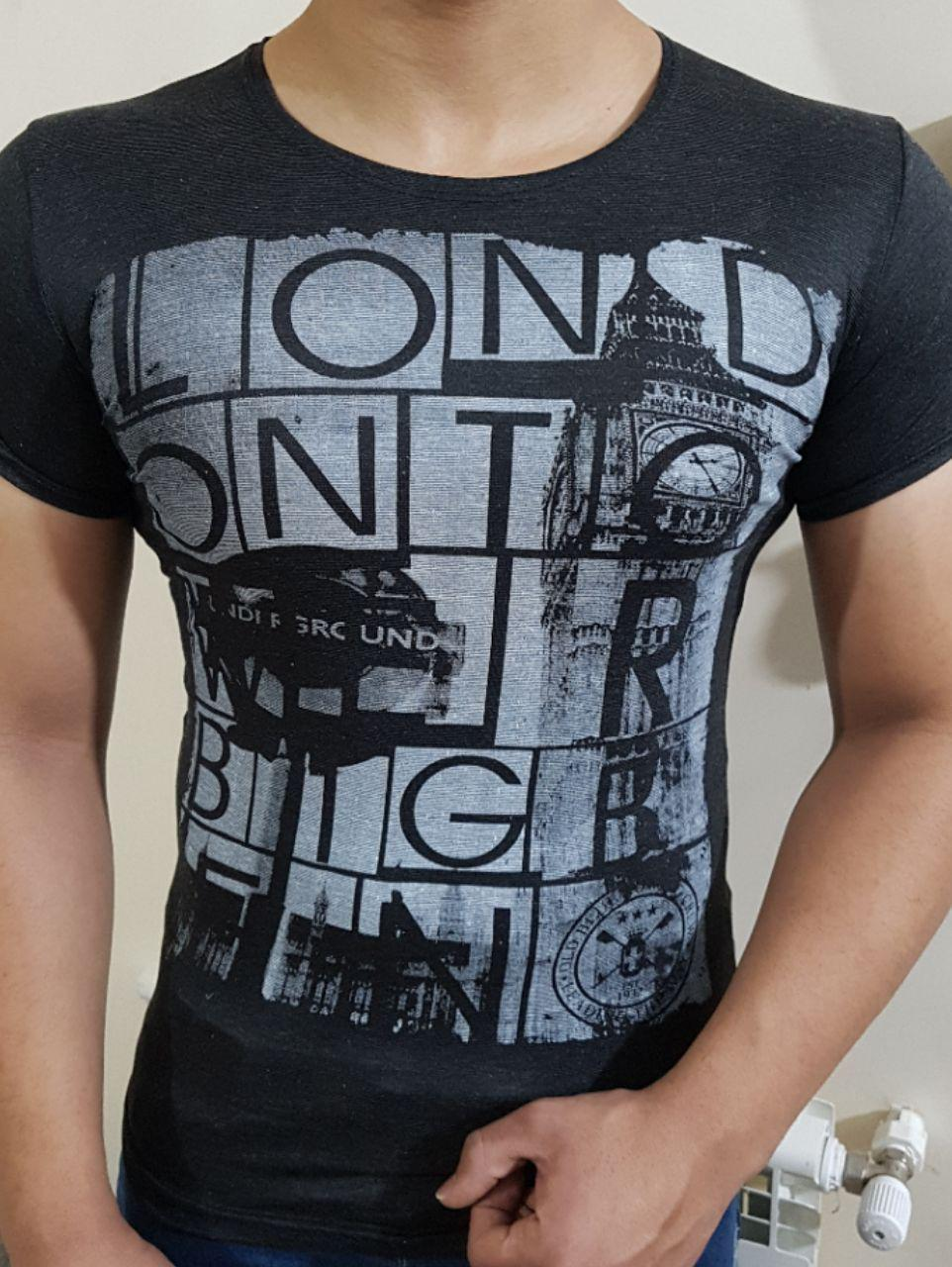 نرخ فروش تی شرت مردانه ملانژ ارزان