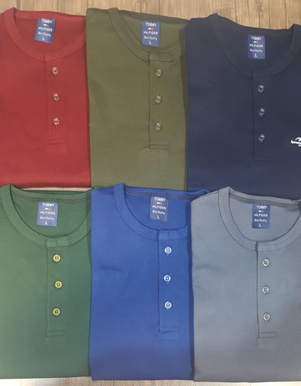 خرید عمده تیشرت سه دکمه جدید مردانه ویژه عید ۹۸