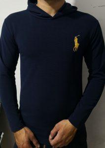 فروش تیشرت کلاه دار شیک مردانه به صورت جینی و عمده